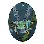 Wishing Frog Ornament (Oval)