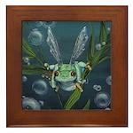 Wishing Frog Framed Tile