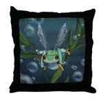 Wishing Frog Throw Pillow