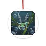 Wishing Frog Ornament (Round)