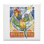A Parrot's World Tile Coaster
