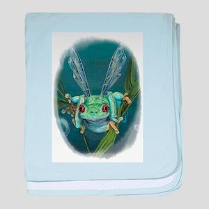 Wishing Frog baby blanket