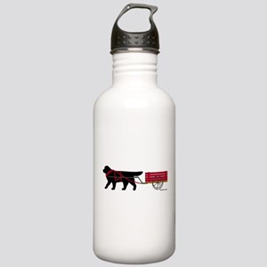 Newfoundland Pulling Cart Stainless Water Bottle 1