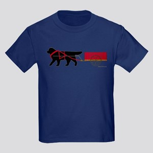 Newfoundland Pulling Cart Kids Dark T-Shirt