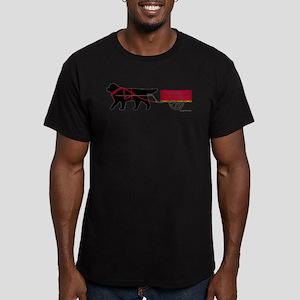 Newfoundland Pulling Cart Men's Fitted T-Shirt (da