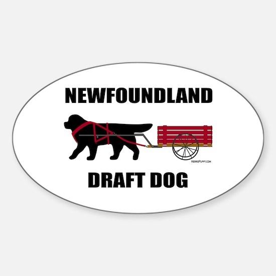 Newfoundland Draft Dog Sticker (Oval)