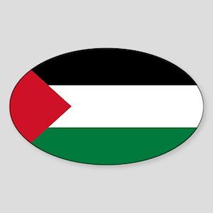 Palestinian Flag Sticker (Oval)