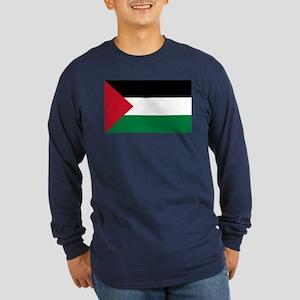 Palestinian Flag Long Sleeve Dark T-Shirt