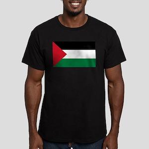 Palestinian Flag Men's Fitted T-Shirt (dark)