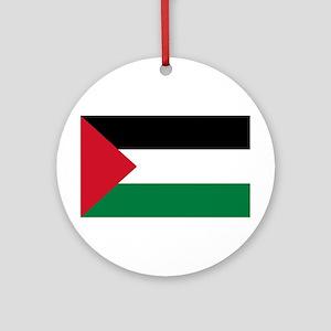 Palestinian Flag Ornament (Round)