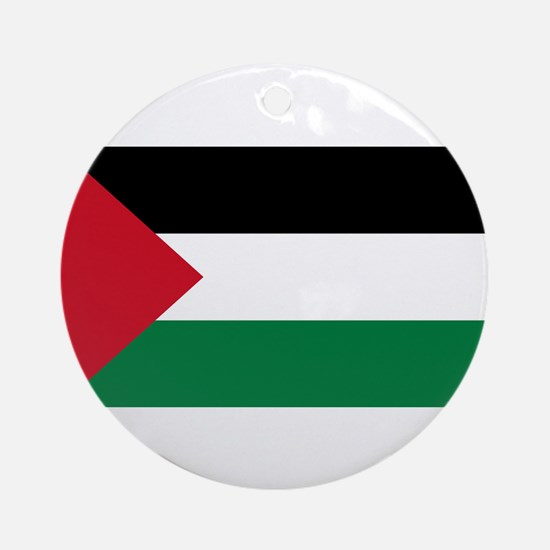 Palestinian Flag Ornament (Round)