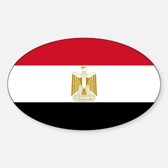 Egyptian Flag Sticker (Oval)