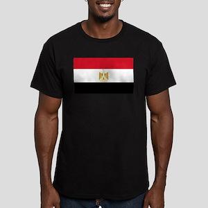 Egyptian Flag Men's Fitted T-Shirt (dark)