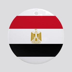 Egyptian Flag Ornament (Round)
