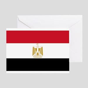 Egyptian Flag Greeting Card