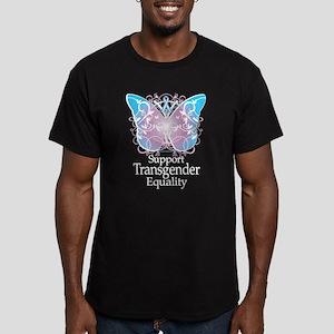 Transgender Butterfly Men's Fitted T-Shirt (dark)