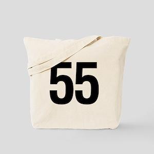 Number 55 Helvetica Tote Bag