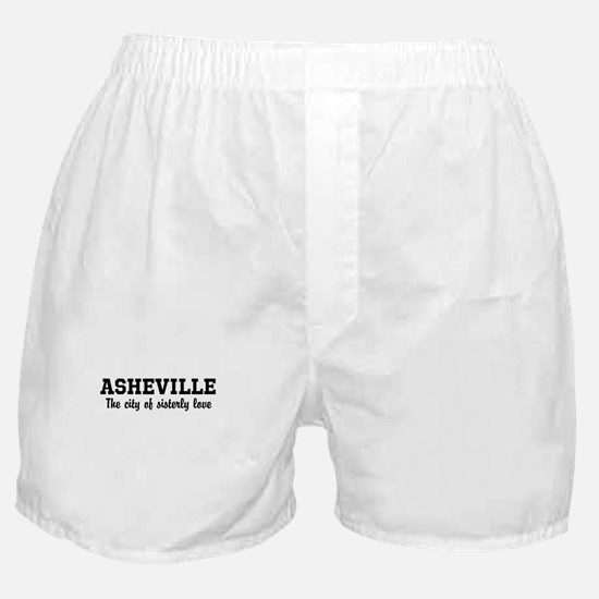 Asheville The City of Sisterl Boxer Shorts