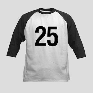 Number 25 Helvetica Kids Baseball Jersey