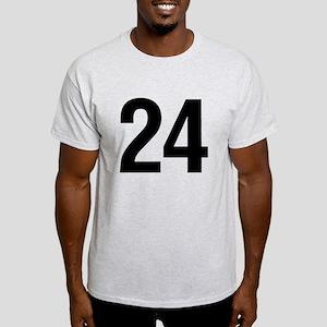 Number 24 Helvetica Light T-Shirt