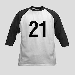Number 21 Helvetica Kids Baseball Jersey