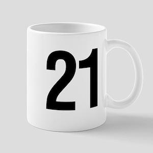 Number 21 Helvetica Mug