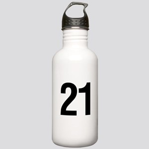 Number 21 Helvetica Stainless Water Bottle 1.0L