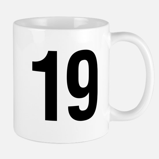 Number 19 Helvetica Mug