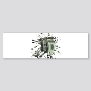 100 Dollar Blot Sticker (Bumper)