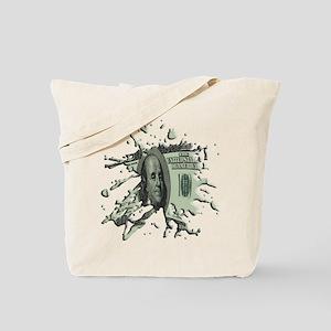 100 Dollar Blot Tote Bag