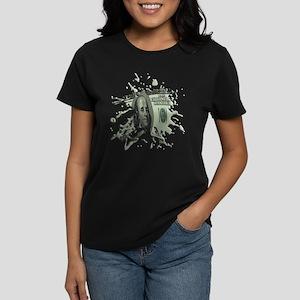 100 Dollar Blot Women's Dark T-Shirt