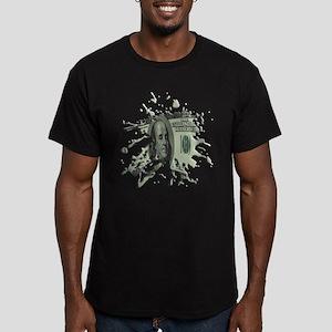 100 Dollar Blot Men's Fitted T-Shirt (dark)