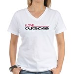 I Love Californication Women's V-Neck T-Shirt