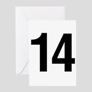 Number 14 Helvetica Greeting Card