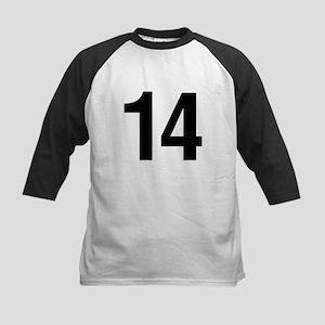 Number 14 Helvetica Kids Baseball Jersey