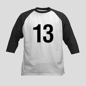 Number 13 Helvetica Kids Baseball Jersey