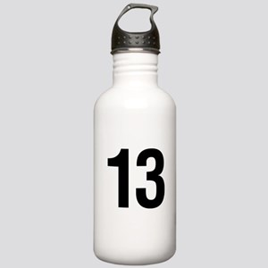 Number 13 Helvetica Stainless Water Bottle 1.0L