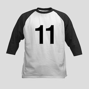 Number 11 Helvetica Kids Baseball Jersey