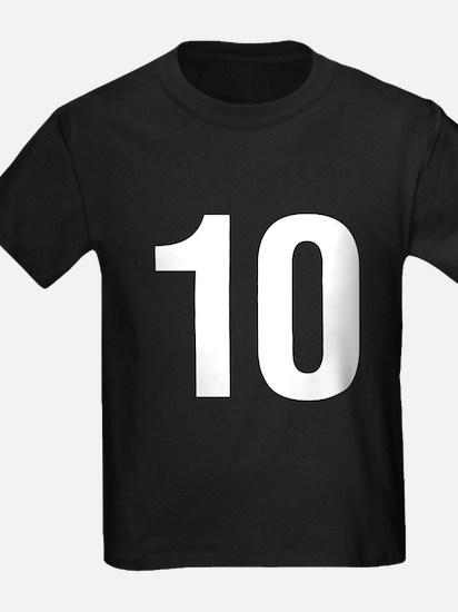 Number 10 Helvetica T