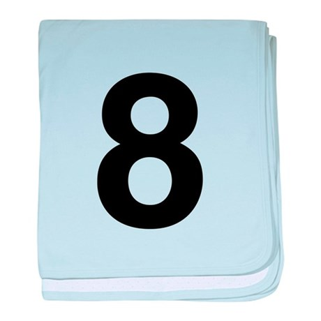 Number 8 Helvetica baby blanket