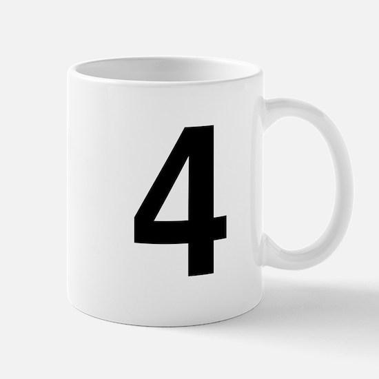 Number 4 Helvetica Mug