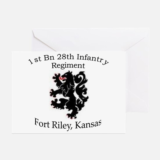1st Bn 28th Infantry Greeting Cards (Pk of 10)