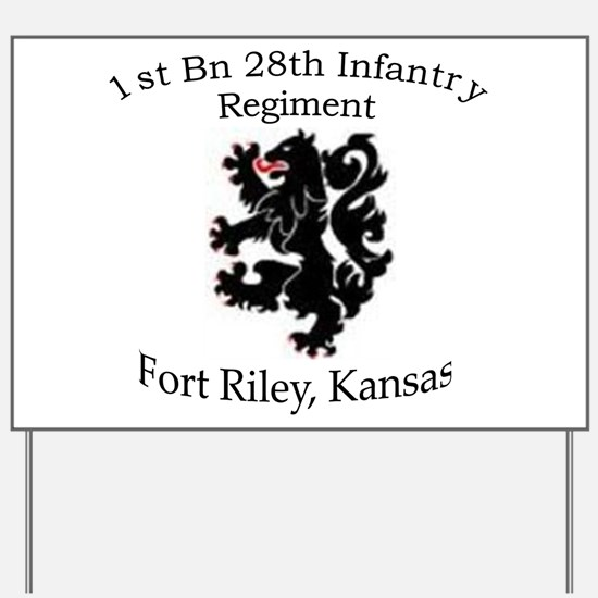 1st Bn 28th Infantry Yard Sign