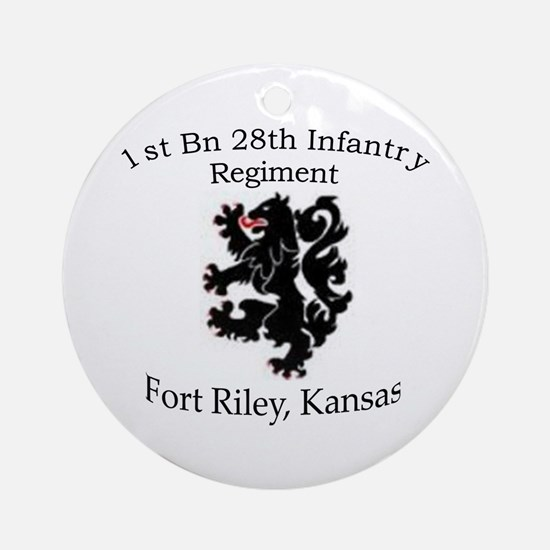 1st Bn 28th Infantry Ornament (Round)