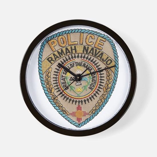 Ramah Navajo Tribal Police Wall Clock