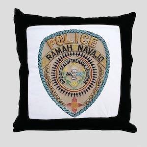 Ramah Navajo Tribal Police Throw Pillow