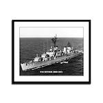USS BENNER Framed Panel Print