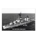 USS BENNER Postcards (Package of 8)