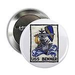 """USS BENNER 2.25"""" Button"""