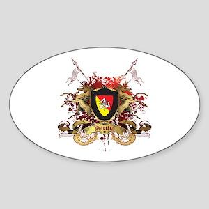 Sicilian Pride Oval Sticker